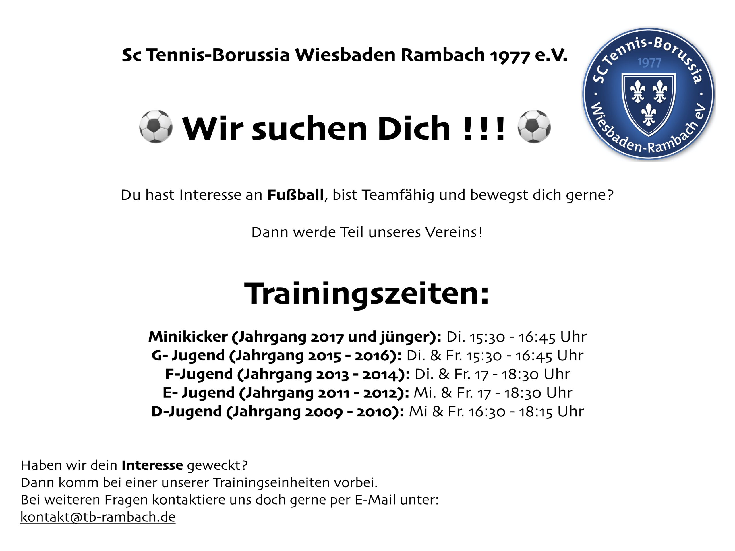 Read more about the article ⚽️ Wir suchen Dich !!! ⚽️